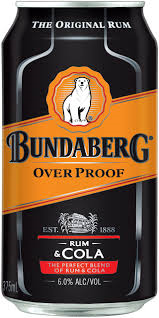 Bundaberg & Cola Over Proof Can 6pack 375ml 6%