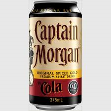 Captain Morgan & Cola Can 4pack 375ml 6%