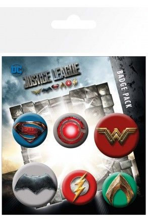 Justice League Badge Pack | Comic Shop Crawley