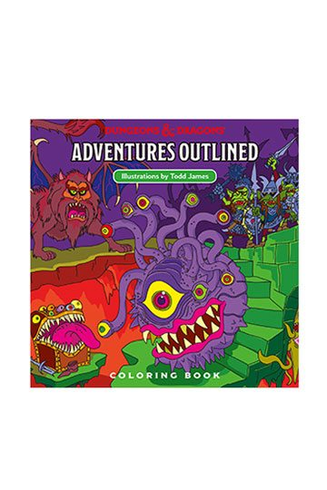 Adventures Outlined Colouring Book