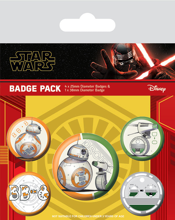 STAR WARS DROID BADGE PACK | Comic Shop Crawley