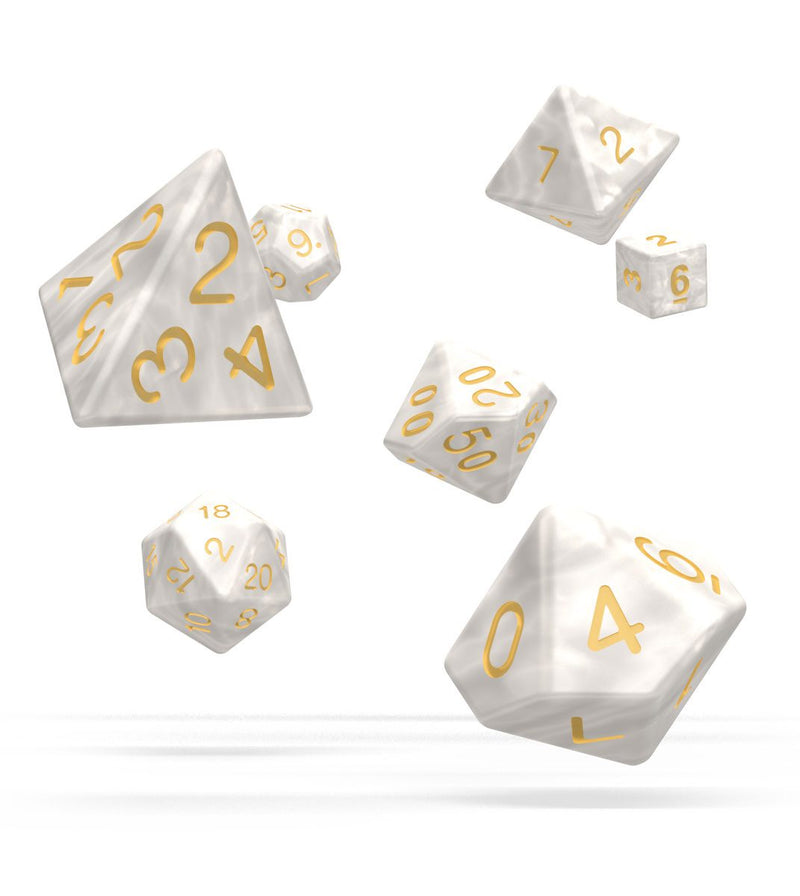 OD Dice RPG Set Marble - White