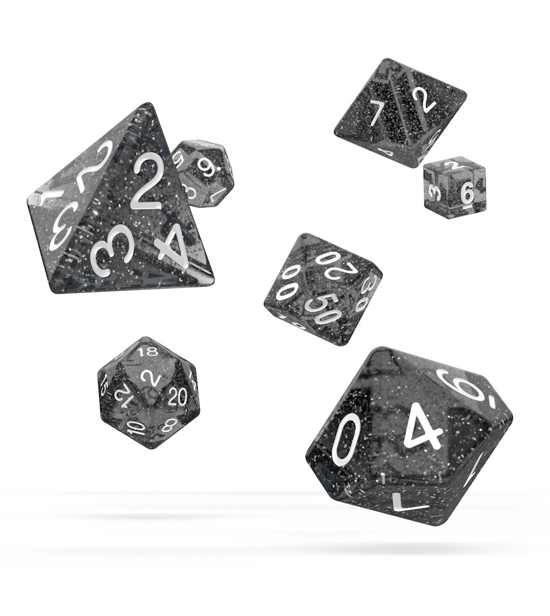 OD Dice RPG Set Speckled - Black | Comic Shop Crawley