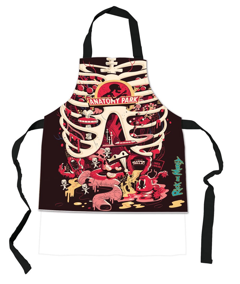 RICK AND MORTY ANATOMY PARK APRON | Comic Shop Crawley