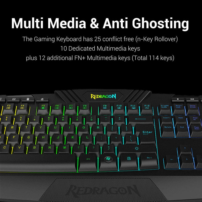 Redragon S101 Wired Gaming Keyboard and Mouse Combo RGB Backlit Gaming Keyboard
