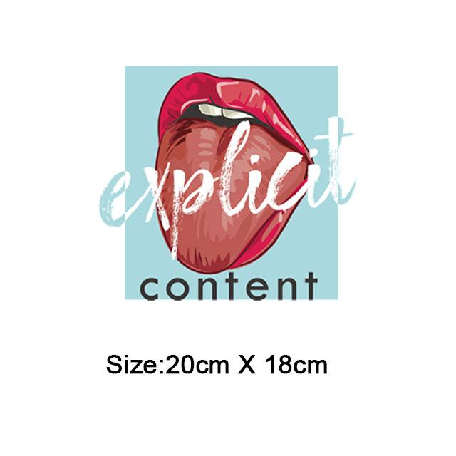 red lip iron patches for clothing strange thing thermo stickers on clothes iron on transfer for t-shirt hoodies diy parches ropa