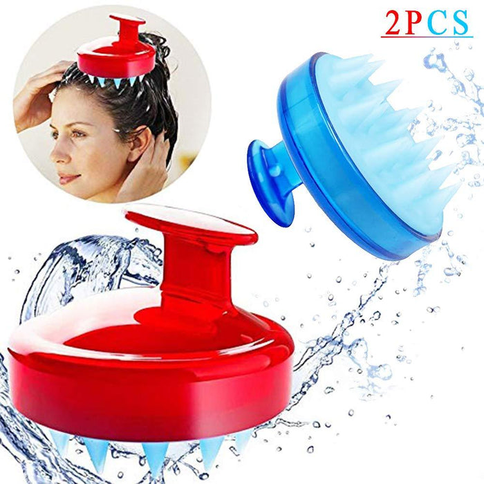 Silicone shampoo scalp massage brush