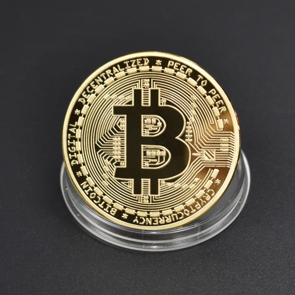 Gold Plated Hot sale Bitcoin Metal Coin