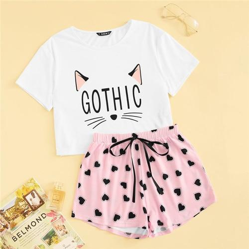 Cute Sleepwear short Pajama Set