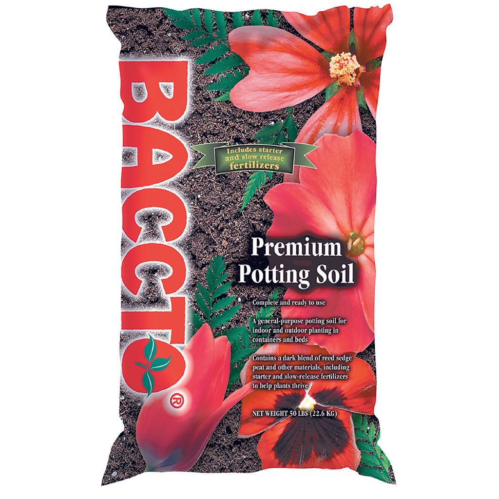 50lb bag of Baccto premium potting soil