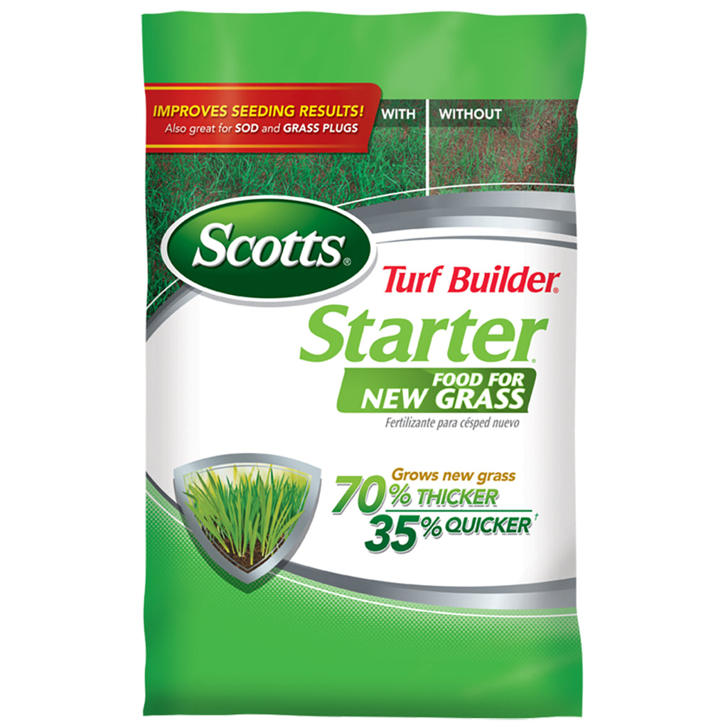 bag of Scotts Turd Builder stater Food for New Grass