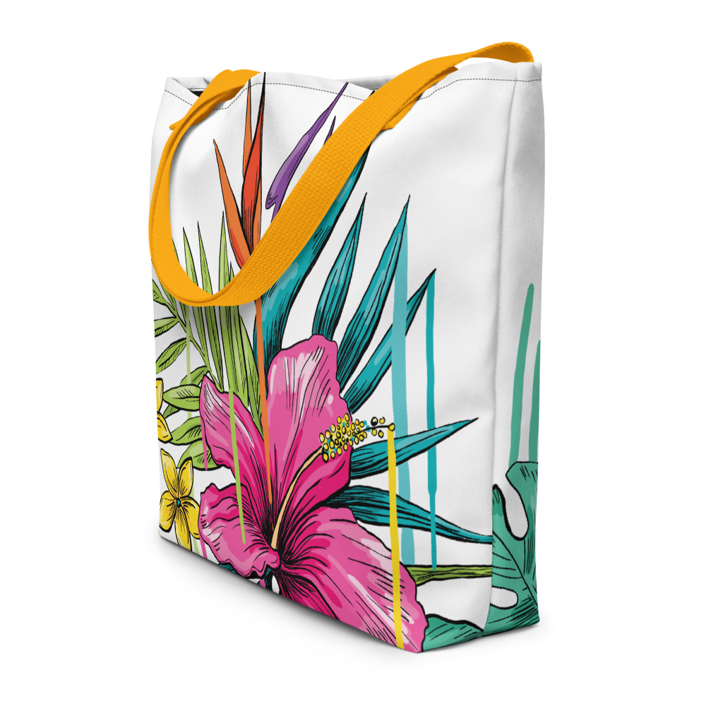FloraPaint Beach Bag