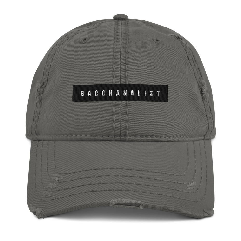 Bacchanalist Tape Distressed Dad Hat