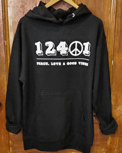 Load image into Gallery viewer, 12401 Peace Unisex Hoodie - Black