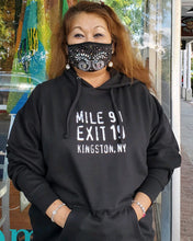 Load image into Gallery viewer, Mile 91 / Exit 19 Unisex Hoodie - Black