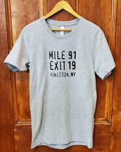 Load image into Gallery viewer, Mile 91 / Exit 19 Unisex T-Shirt - Gray