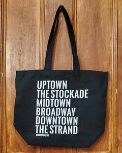 Kingston Neighborhood Tote Bag - Large Black
