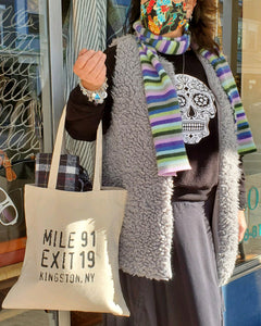 Mile 91 / Exit 19 Canvas Tote Bag