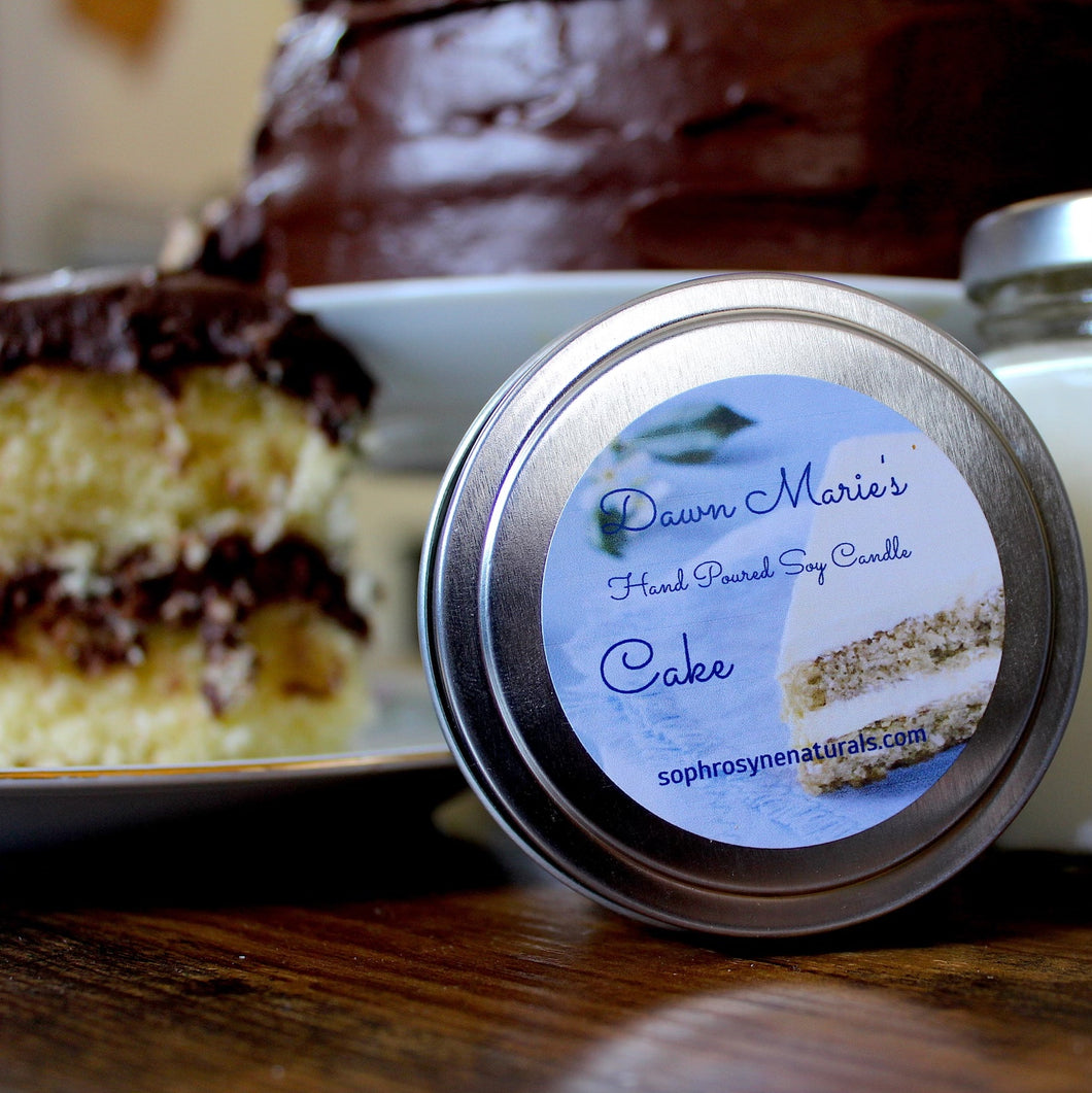 Essential Oil Soy Candle - Cake