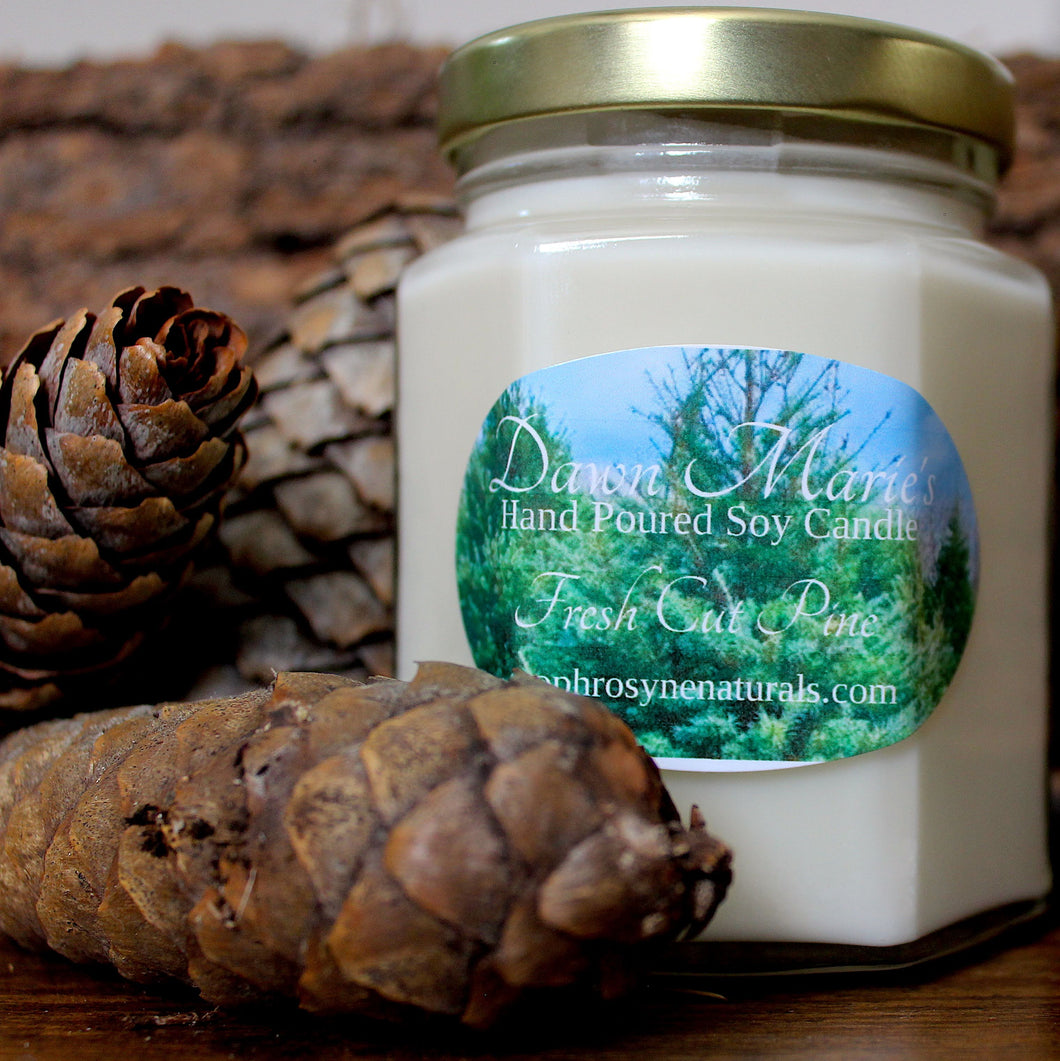 Essential Oil Soy Candle - Fresh Cut Pine