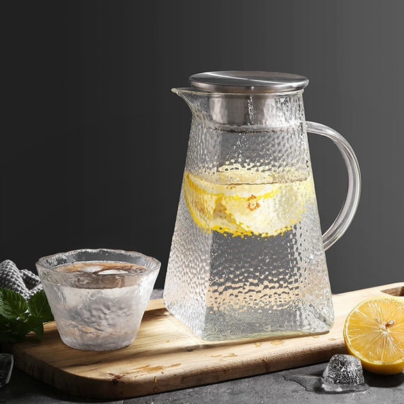 Textured Glass Pitcher - Heat Resistant