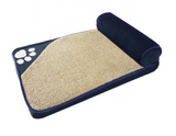 Navy or Brown Pet Bed Size Large