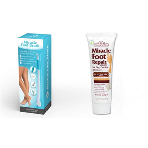 Miracle Extra Long Foot Brush with Optional Miracle Foot Repair