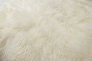 "48"" x 72"" White Sheepskin Long-Haired - Area Rug"
