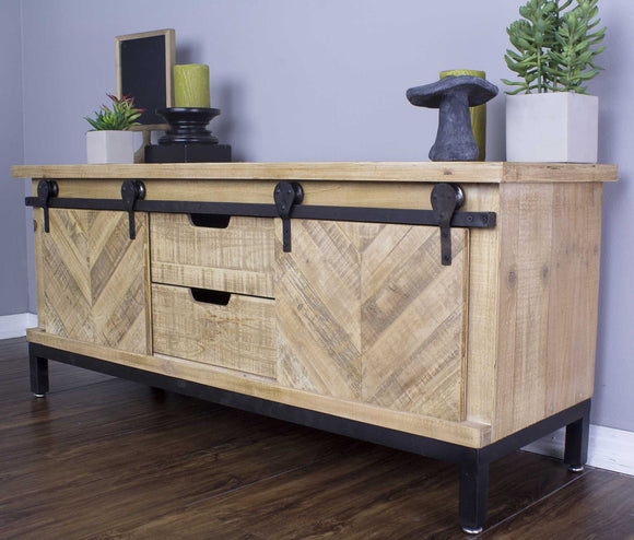 Natural Wood & Iron TV Stand/Buffet  50
