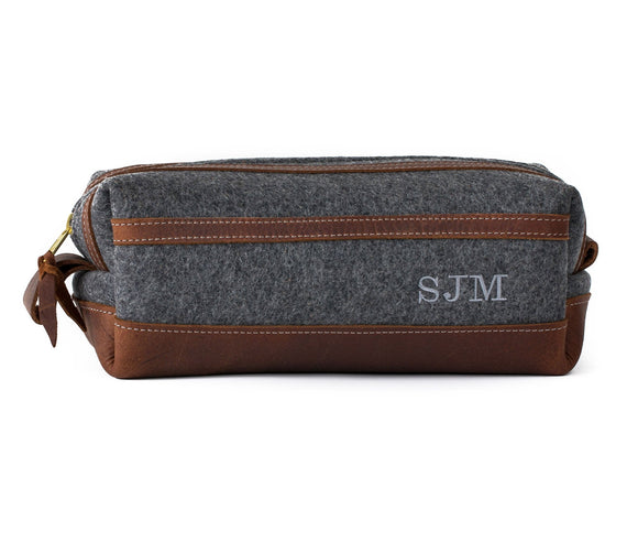 Felt and Leather Toiletry Bag | I'm Still Shopping