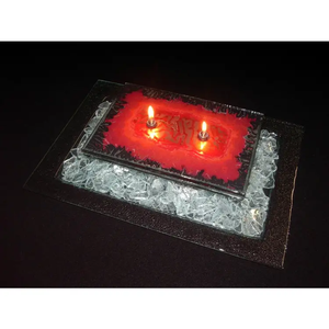 Fire and Ice Oil Lamp 2 Wick