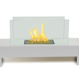 Indoor/Outdoor Fireplace-Gramercy White