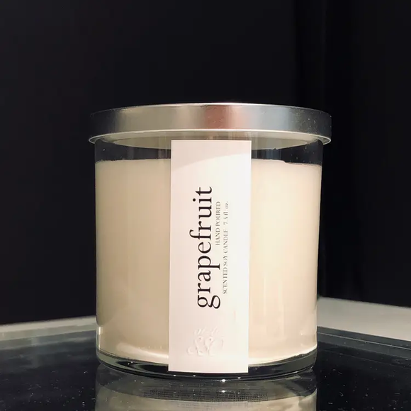 Grapefruit Scented Soy Candle