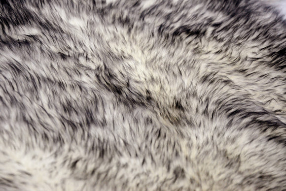 Gradient Gray Octo Sheepskin - Area Rug    72