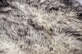 "Gradient Gray Octo Sheepskin - Area Rug    72"" x 72"""