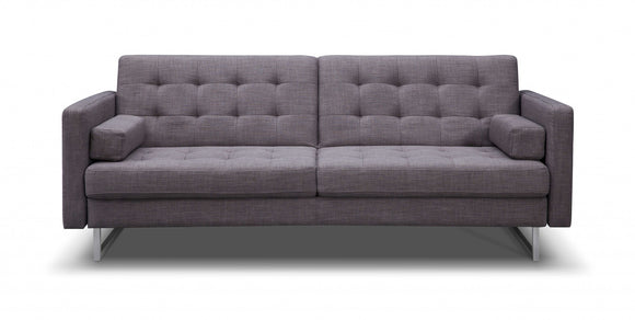 Grey with Stainless Steel Sofa Bed