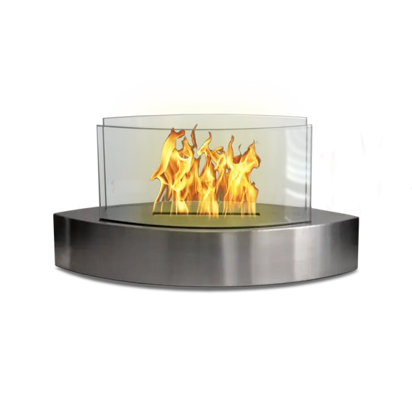Tabletop Fireplace-Lexington Steel