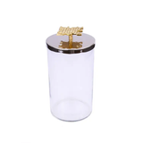 Canisters With Lid - Gold/ Nickel   Medium, Large