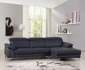 Modern Navy Leather Sectional / Chair