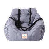 Classic Pin-Striped Pet Bed and Carrier - 3 Colors
