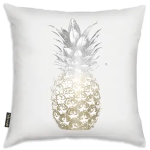 "Pineapple Pillow Silver & Gold   18"" x 18"""
