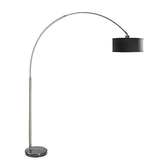 Arch Floor Lamp with Black Drum Shade