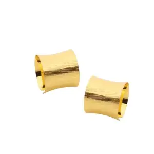 Set Of 6 Gold Napkin Rings