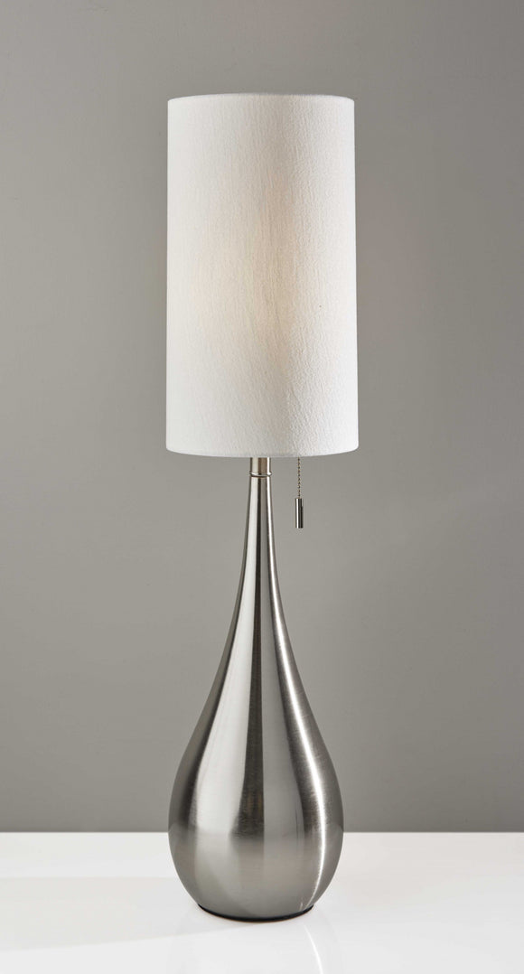 Teardrop Table Lamp Brushed Steel