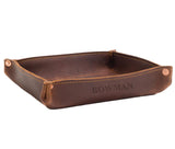 Leather Rivet Valet Tray - Personalize with up to 10 Letters