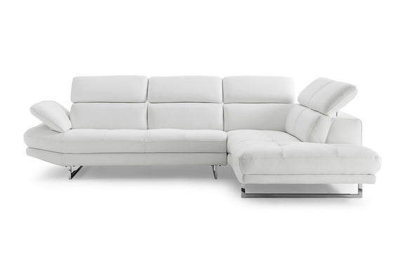 White Italian Leather Sectional - FREE SHIPPING