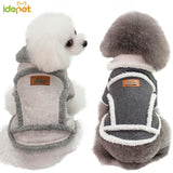 Stylin' Fleece Rolled Collar Dog Jacket  2 Colors