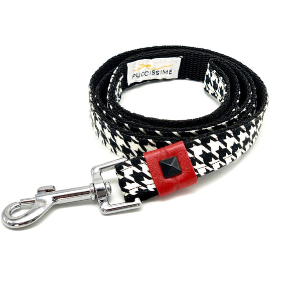 Hounds-tooth dog leash