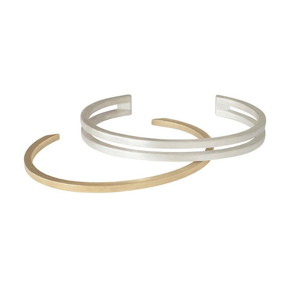 Interlocked Minimalist Cuff Bracelet in Sterling Silver