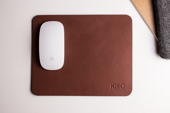 Leather Mouse Pad - Black or Brown